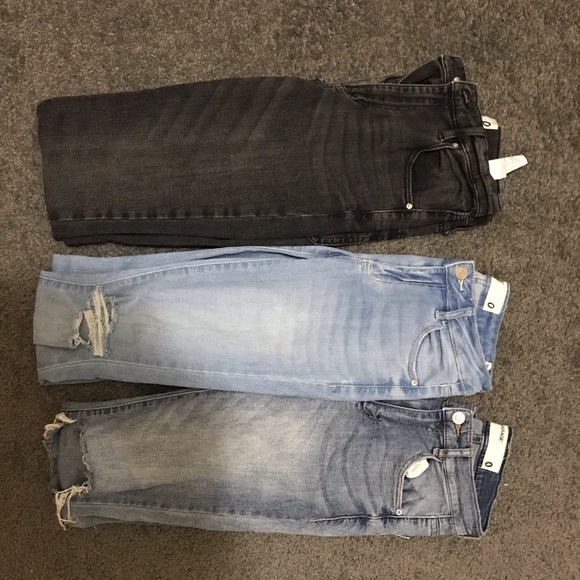 lot of 3 garage skinny jeans